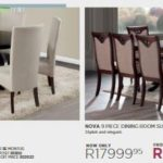 Morkels catalogue dining room suites