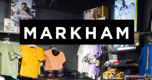 Markhams menswear clothing store South Africa