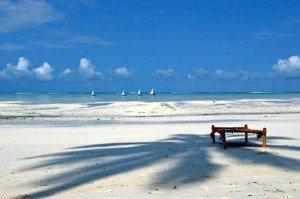 White sandy Zanzibar beach