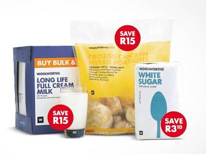 Selection of food from Woolworths