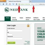 Secure Nedbank Login Screenshot