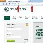 Secure Nedbank Login Screenshot